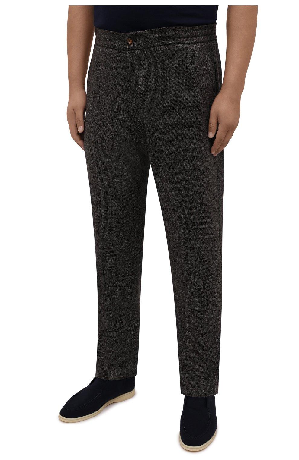 Мужские брюки из кашемира и шерсти MARCO PESCAROLO коричневого цвета, арт. CHIAIAM/ZIP+RIS/4458 | Фото 3 (Big sizes: Big Sizes; Материал внешний: Шерсть, Кашемир; Длина (брюки, джинсы): Стандартные; Случай: Повседневный; Стили: Кэжуэл)