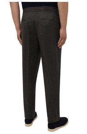 Мужские брюки из кашемира и шерсти MARCO PESCAROLO коричневого цвета, арт. CHIAIAM/ZIP+RIS/4458 | Фото 4 (Big sizes: Big Sizes; Материал внешний: Шерсть, Кашемир; Длина (брюки, джинсы): Стандартные; Случай: Повседневный; Стили: Кэжуэл)