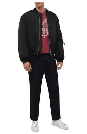 Мужская хлопковая футболка KENZO бордового цвета, арт. FB65TS0914YH | Фото 2