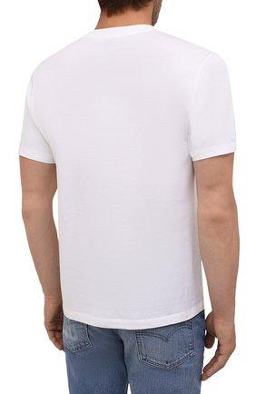 Мужская хлопковая футболка KENZO белого цвета, арт. FB65TS0204YA | Фото 4 (Рукава: Короткие; Длина (для топов): Стандартные; Принт: С принтом; Материал внешний: Хлопок; Стили: Кэжуэл)