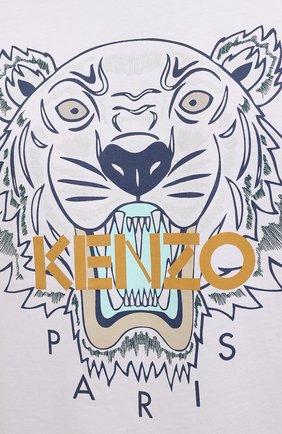 Мужская хлопковая футболка KENZO белого цвета, арт. FB65TS0204YA | Фото 5 (Рукава: Короткие; Длина (для топов): Стандартные; Принт: С принтом; Материал внешний: Хлопок; Стили: Кэжуэл)