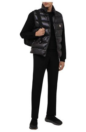 Мужские комбинированные кроссовки H`D`S`N BARACCO черного цвета, арт. ARES.GN.0* | Фото 2 (Материал внутренний: Текстиль, Натуральная кожа; Подошва: Массивная; Материал внешний: Текстиль; Стили: Спорт)