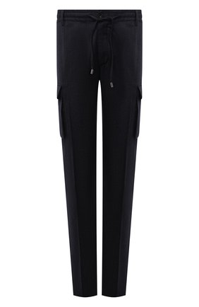 Мужские брюки-карго из шерсти и хлопка CORTIGIANI темно-синего цвета, арт. 213604/0000/2295/60-70 | Фото 1
