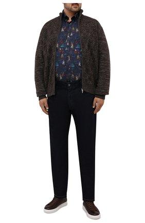 Мужские джинсы CORTIGIANI темно-синего цвета, арт. 213521/S500/0000/6090/60-70 | Фото 2 (Длина (брюки, джинсы): Стандартные; Материал внешний: Хлопок; Кросс-КТ: Деним; Силуэт М (брюки): Прямые; Стили: Кэжуэл; Big sizes: Big Sizes)