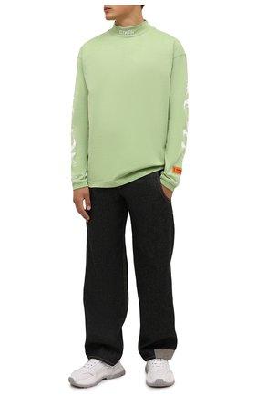 Мужская хлопковый лонгслив HERON PRESTON светло-зеленого цвета, арт. HMAB017F21JER0015501 | Фото 2