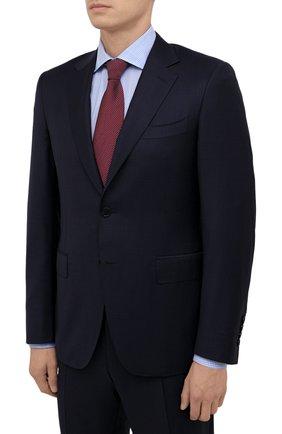 Мужской шерстяной костюм CANALI темно-синего цвета, арт. 11280/19/BF00070 | Фото 2 (Материал подклада: Купро; Материал внешний: Шерсть; Костюмы М: Однобортный; Стили: Классический; Рукава: Длинные)