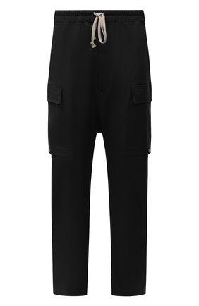 Мужские хлопковые брюки-карго RICK OWENS черного цвета, арт. RU02A5379/TE | Фото 1