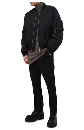 Мужские хлопковые брюки-карго RICK OWENS черного цвета, арт. RU02A5379/TE | Фото 2