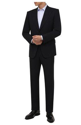 Мужские кожаные дерби SANTONI черного цвета, арт. MCLG16204SI2EVRTN01 | Фото 2 (Материал внутренний: Натуральная кожа; Стили: Классический)