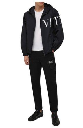 Мужские кожаные кеды DOUCAL'S черного цвета, арт. DU1773GENTPM223NN00 | Фото 2 (Материал утеплителя: Натуральный мех; Подошва: Массивная)