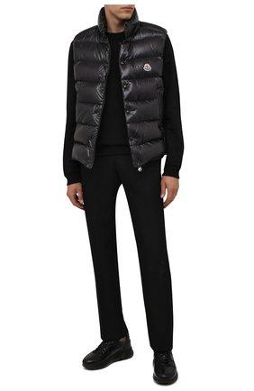 Мужские кожаные кроссовки DOUCAL'S черного цвета, арт. DU2625JUSTPX377NN00 | Фото 2 (Материал внутренний: Текстиль; Материал утеплителя: Натуральный мех; Стили: Классический; Подошва: Массивная)
