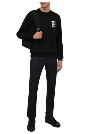 Мужские кожаные кеды DOUCAL'S черного цвета, арт. DU2886K0BEUM019NN00 | Фото 2 (Материал утеплителя: Натуральный мех)