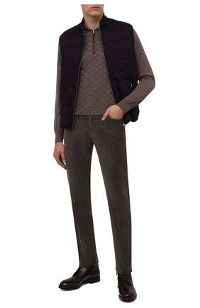 Мужские кожаные ботинки W.GIBBS темно-коричневого цвета, арт. 0220008/2302 | Фото 2 (Материал внутренний: Натуральная кожа; Мужское Кросс-КТ: Ботинки-обувь; Подошва: Плоская)