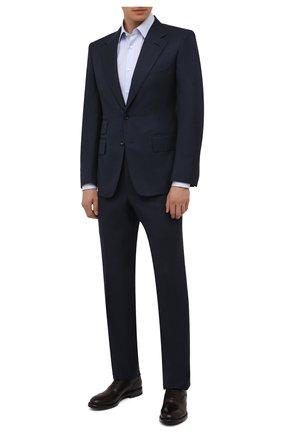 Мужские кожаные оксфорды W.GIBBS темно-бордового цвета, арт. 0220009/2302 | Фото 2 (Материал внутренний: Натуральная кожа; Стили: Классический)
