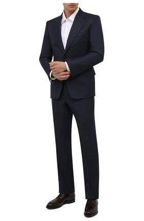 Мужские кожаные дерби W.GIBBS темно-коричневого цвета, арт. 0639010/0149 | Фото 2 (Материал внутренний: Натуральная кожа; Стили: Классический)