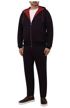 Мужской хлопковый спортивный костюм CAPOBIANCO бордового цвета, арт. 11MT34.WY00./58-60 | Фото 1 (Материал внешний: Хлопок; Материал подклада: Хлопок; Кросс-КТ: Спорт; Big sizes: Big Sizes; Рукава: Длинные)