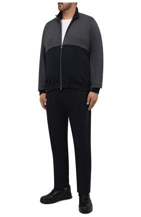 Мужской спортивный костюм из хлопка и кашемира CAPOBIANCO темно-синего цвета, арт. 11MT28.M000./62-68 | Фото 1