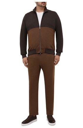 Мужской спортивный костюм из хлопка и кашемира CAPOBIANCO коричневого цвета, арт. 11MT28.M000./58-60 | Фото 1
