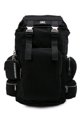 Мужской текстильный рюкзак DSQUARED2 черного цвета, арт. BPM0062 11703886 | Фото 1 (Материал: Текстиль)