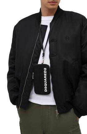 Текстильный чехол для iphone DSQUARED2 черного цвета, арт. P0M0025 11702174   Фото 2