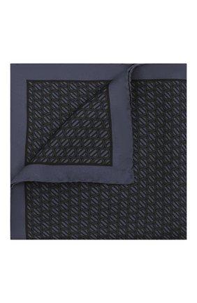 Мужской шелковый платок ERMENEGILDO ZEGNA темно-синего цвета, арт. Z2J06A/39A | Фото 1 (Материал: Текстиль, Шелк)