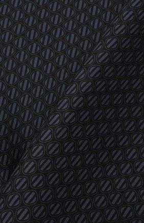 Мужской шелковый платок ERMENEGILDO ZEGNA темно-синего цвета, арт. Z2J06A/39A | Фото 2 (Материал: Текстиль, Шелк)