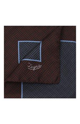 Мужской шелковый платок ERMENEGILDO ZEGNA темно-синего цвета, арт. Z2J04A/39A | Фото 1 (Материал: Текстиль, Шелк)