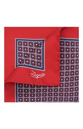 Мужской шелковый платок ERMENEGILDO ZEGNA красного цвета, арт. Z2J03A/39A   Фото 1 (Материал: Шелк, Текстиль)
