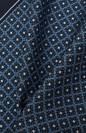 Мужской шелковый платок ERMENEGILDO ZEGNA темно-синего цвета, арт. Z2J03A/39A | Фото 2 (Материал: Шелк, Текстиль)