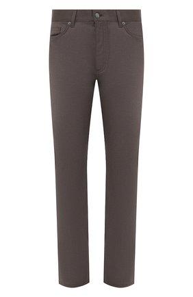 Мужские шерстяные брюки ERMENEGILDO ZEGNA светло-коричневого цвета, арт. UVP03/GAN | Фото 1