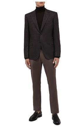 Мужские шерстяные брюки ERMENEGILDO ZEGNA светло-коричневого цвета, арт. UVP03/GAN | Фото 2