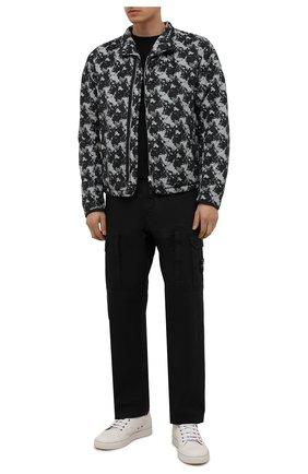 Мужская утепленная куртка STONE ISLAND серого цвета, арт. 751940407 | Фото 2
