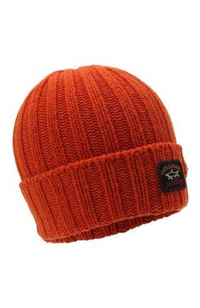 Мужская шерстяная шапка PAUL&SHARK оранжевого цвета, арт. 11317137/GQM   Фото 1