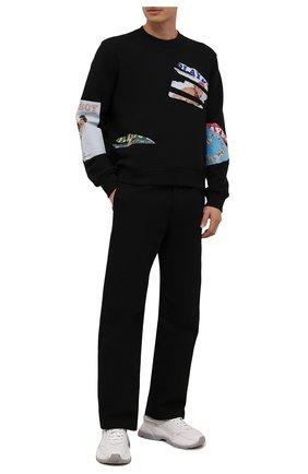 Мужской хлопковый свитшот AMIRI черного цвета, арт. MJGC020-001 | Фото 2