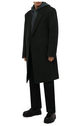 Мужские кожаные дерби greca labyrinth VERSACE черного цвета, арт. 1000771/D9VAC | Фото 2 (Материал внутренний: Натуральная кожа; Стили: Классический)