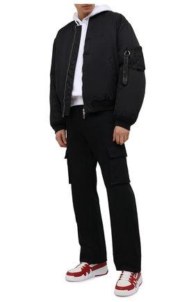 Мужские кожаные кеды talon GIUSEPPE ZANOTTI DESIGN красного цвета, арт. RM10007/005 | Фото 2 (Подошва: Массивная; Материал внутренний: Натуральная кожа, Текстиль)