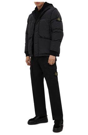 Мужские кеды talon GIUSEPPE ZANOTTI DESIGN черного цвета, арт. RU10051/004 | Фото 2 (Подошва: Массивная; Материал внешний: Натуральный мех; Материал утеплителя: Натуральный мех)