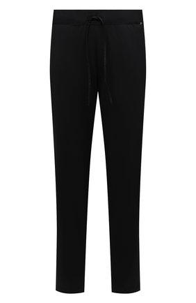 Мужские хлопковые домашние брюки HANRO черного цвета, арт. 075435 | Фото 1 (Материал внешний: Хлопок; Кросс-КТ: домашняя одежда; Длина (брюки, джинсы): Стандартные)