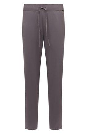 Мужские хлопковые домашние брюки HANRO серого цвета, арт. 075435 | Фото 1 (Материал внешний: Хлопок; Кросс-КТ: домашняя одежда; Длина (брюки, джинсы): Стандартные)