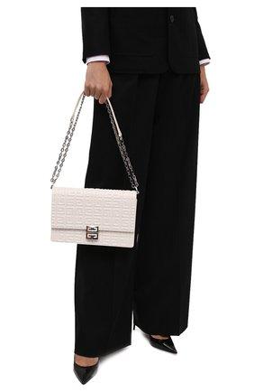 Женская сумка 4g small GIVENCHY кремвого цвета, арт. BB50J1B144 | Фото 2