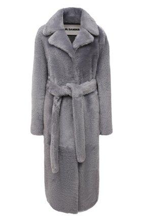 Женская шуба из овчины JIL SANDER серого цвета, арт. JSPT651070-WTL08010 | Фото 1 (Материал внешний: Натуральный мех; Рукава: Длинные; Длина (верхняя одежда): Длинные; Стили: Кэжуэл)