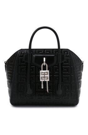 Женская сумка antigona lock mini GIVENCHY черного цвета, арт. BB50J0B144 | Фото 1
