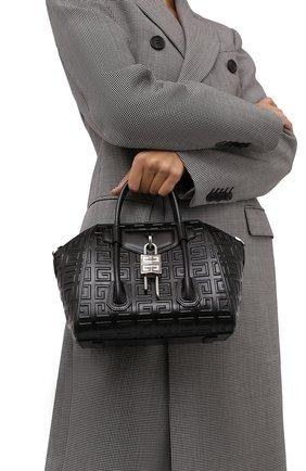 Женская сумка antigona lock mini GIVENCHY черного цвета, арт. BB50J0B144 | Фото 2