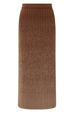 Женская кашемировая юбка LORO PIANA бежевого цвета, арт. FAL7817 | Фото 1 (Материал внешний: Кашемир, Шерсть; Длина Ж (юбки, платья, шорты): Миди; Женское Кросс-КТ: Юбка-одежда; Кросс-КТ: Трикотаж; Стили: Кэжуэл)