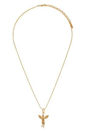 Женская кулон на цепочке SAINT LAURENT золотого цвета, арт. 667513/Y1500 | Фото 1 (Материал: Металл)