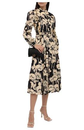 Женское платье из хлопка и льна GUCCI кремвого цвета, арт. 652088/ZAGR6 | Фото 2 (Материал внешний: Хлопок, Лен; Материал подклада: Синтетический материал; Рукава: Длинные; Длина Ж (юбки, платья, шорты): Миди; Женское Кросс-КТ: Платье-одежда; Случай: Повседневный; Стили: Романтичный)