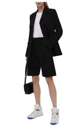 Женские кроссовки gucci basket GUCCI белого цвета, арт. 661310/2SHA0 | Фото 2 (Подошва: Платформа; Материал внешний: Экокожа, Текстиль; Материал внутренний: Текстиль; Кросс-КТ: хайтопы)