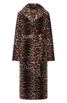 Женская двусторонняя дубленка YVES SALOMON леопардового цвета, арт. 21WYM60417MERL   Фото 1 (Материал внешний: Натуральный мех; Длина (верхняя одежда): Длинные; Рукава: Длинные; Стили: Гламурный)