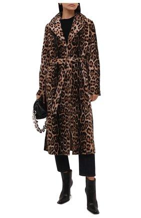 Женская двусторонняя дубленка YVES SALOMON леопардового цвета, арт. 21WYM60417MERL   Фото 2 (Материал внешний: Натуральный мех; Длина (верхняя одежда): Длинные; Рукава: Длинные; Стили: Гламурный)