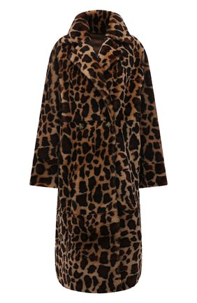 Женская шуба из меха овчины METEO YVES SALOMON леопардового цвета, арт. 22WMM61399MECL/BR0WN LE0PARD | Фото 1